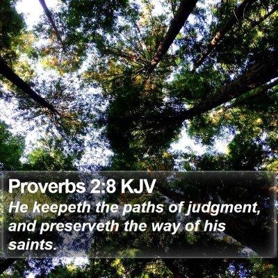 Proverbs 2:8 KJV Bible Verse Image