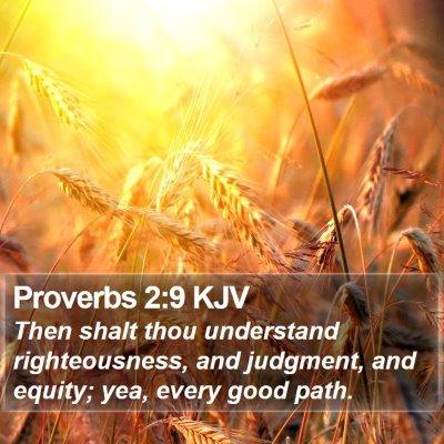 Proverbs 2:9 KJV Bible Verse Image
