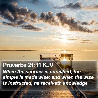 Proverbs 21:11 KJV Bible Verse Image