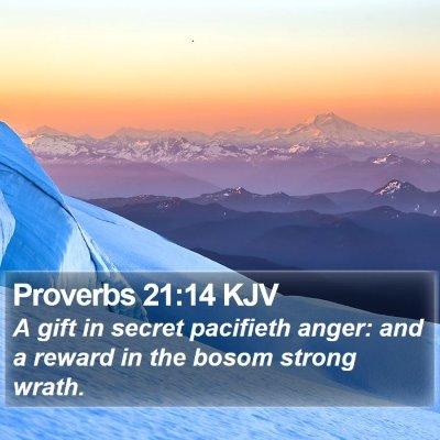 Proverbs 21:14 KJV Bible Verse Image