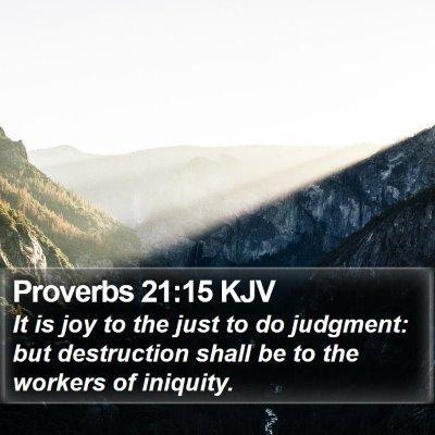Proverbs 21:15 KJV Bible Verse Image