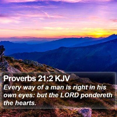 Proverbs 21:2 KJV Bible Verse Image