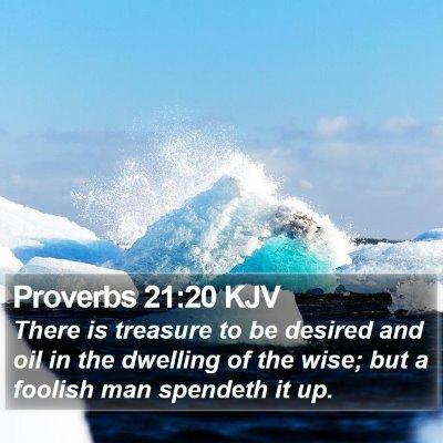 Proverbs 21:20 KJV Bible Verse Image