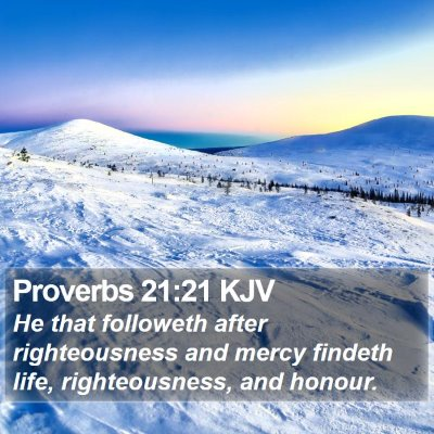 Proverbs 21:21 KJV Bible Verse Image