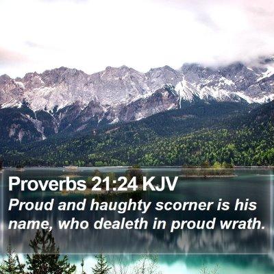 Proverbs 21:24 KJV Bible Verse Image