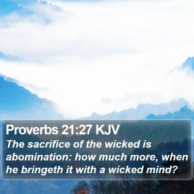 Proverbs 21:27 KJV Bible Verse Image
