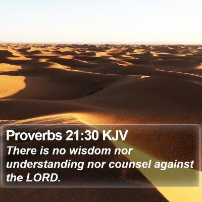 Proverbs 21:30 KJV Bible Verse Image