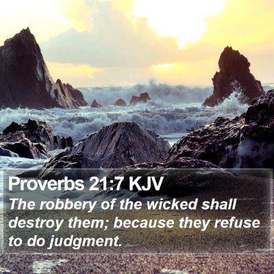 Proverbs 21:7 KJV Bible Verse Image