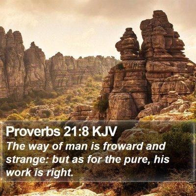 Proverbs 21:8 KJV Bible Verse Image