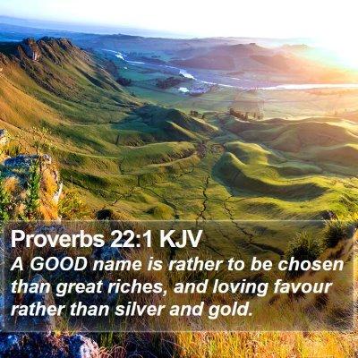 Proverbs 22:1 KJV Bible Verse Image