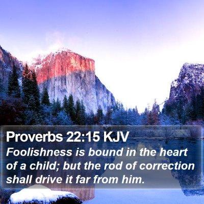 Proverbs 22:15 KJV Bible Verse Image