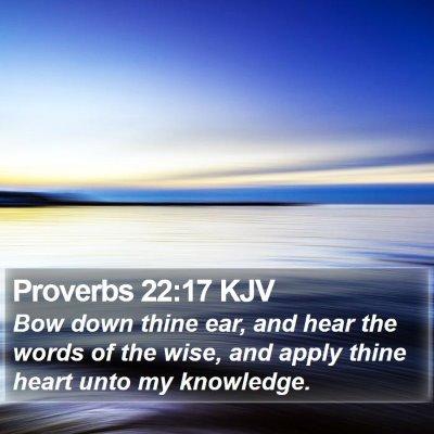 Proverbs 22:17 KJV Bible Verse Image