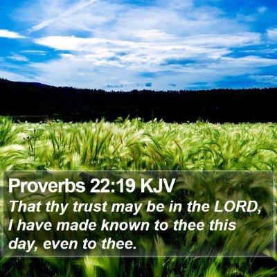 Proverbs 22:19 KJV Bible Verse Image