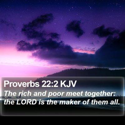 Proverbs 22:2 KJV Bible Verse Image