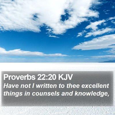 Proverbs 22:20 KJV Bible Verse Image