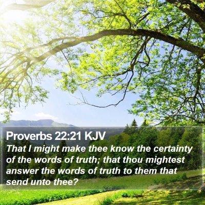 Proverbs 22:21 KJV Bible Verse Image