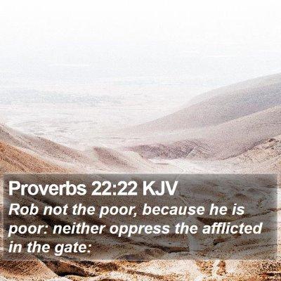 Proverbs 22:22 KJV Bible Verse Image