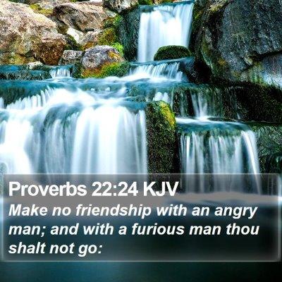 Proverbs 22:24 KJV Bible Verse Image
