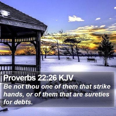 Proverbs 22:26 KJV Bible Verse Image
