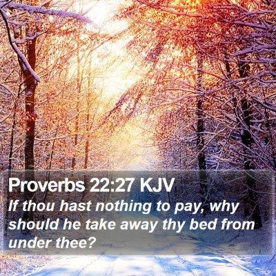 Proverbs 22:27 KJV Bible Verse Image