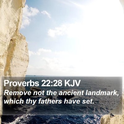 Proverbs 22:28 KJV Bible Verse Image