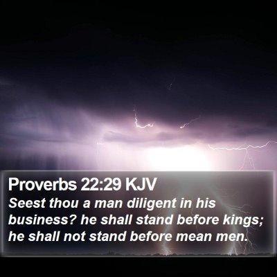 Proverbs 22:29 KJV Bible Verse Image