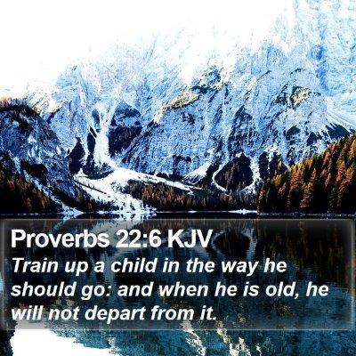 Proverbs 22:6 KJV Bible Verse Image