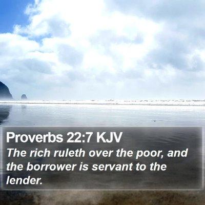 Proverbs 22:7 KJV Bible Verse Image