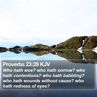 Proverbs 23:29 KJV Bible Verse Image