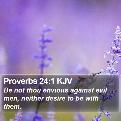 Proverbs 24:1 KJV Bible Verse Image