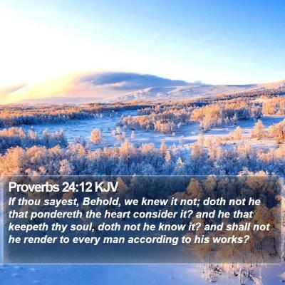 Proverbs 24:12 KJV Bible Verse Image
