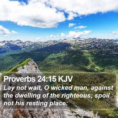 Proverbs 24:15 KJV Bible Verse Image