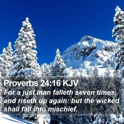 Proverbs 24:16 KJV Bible Verse Image