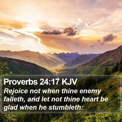 Proverbs 24:17 KJV Bible Verse Image