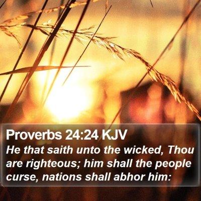 Proverbs 24:24 KJV Bible Verse Image