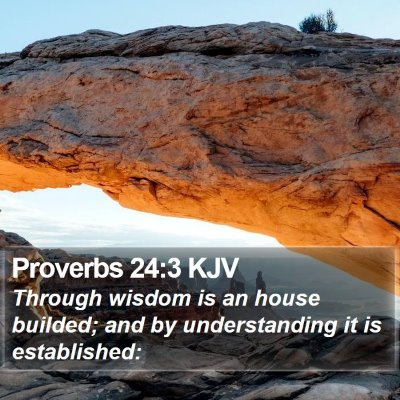 Proverbs 24:3 KJV Bible Verse Image