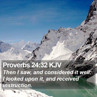 Proverbs 24:32 KJV Bible Verse Image
