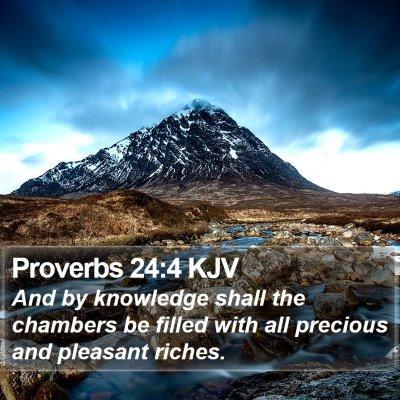 Proverbs 24:4 KJV Bible Verse Image