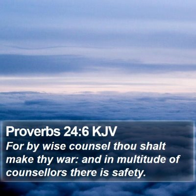 Proverbs 24:6 KJV Bible Verse Image