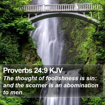 Proverbs 24:9 KJV Bible Verse Image