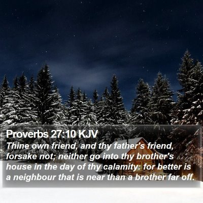 Proverbs 27:10 KJV Bible Verse Image