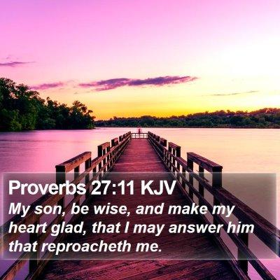 Proverbs 27:11 KJV Bible Verse Image