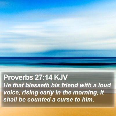 Proverbs 27:14 KJV Bible Verse Image