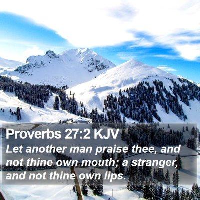 Proverbs 27:2 KJV Bible Verse Image