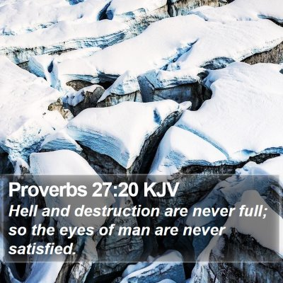 Proverbs 27:20 KJV Bible Verse Image