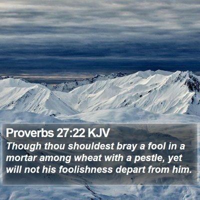 Proverbs 27:22 KJV Bible Verse Image