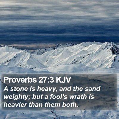 Proverbs 27:3 KJV Bible Verse Image