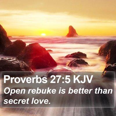 Proverbs 27:5 KJV Bible Verse Image