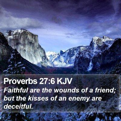 Proverbs 27:6 KJV Bible Verse Image