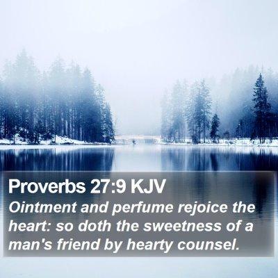 Proverbs 27:9 KJV Bible Verse Image